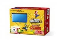 Nintendo 3DS XL, Console (Black | Blue) + New Super Mario Bros 2  3DS XL