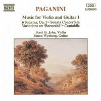Paganini: Music for Violin & Guitar Vol 1 | St John, Wynberg