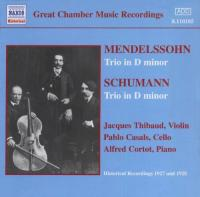 Great Chamber Music Recordings  Mendelssohn, Schumann: Piano Trios
